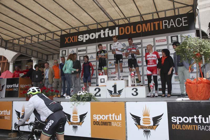 Podio donne Sportful Dolomiti Race 2